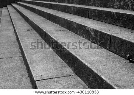concrete stairs - stock photo