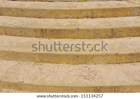 Concrete stairs at a beach