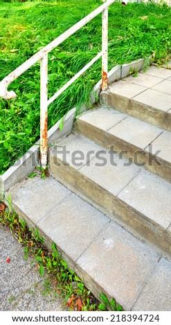 concrete stairs in architecture design - stock photo
