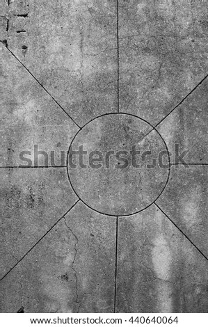 concrete surface with lines - stock photo