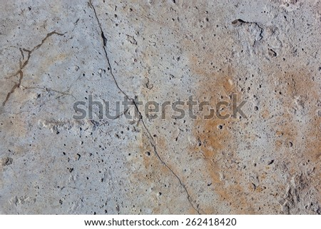 Concrete surface with rust. Surface texture or background. - stock photo