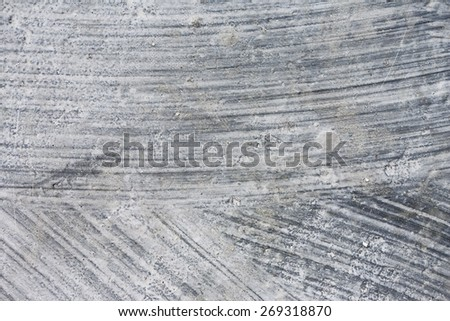concrete surface with thick brush strokes, full frame - stock photo