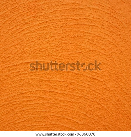 concrete texture with orange color - stock photo