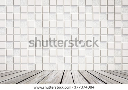 Concrete tile wall texture and background seamless - stock photo