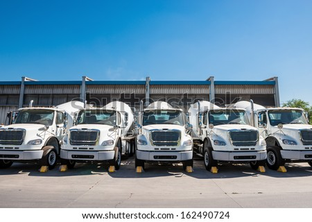 Concrete trucks - stock photo