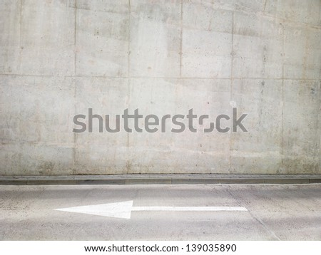 Concrete wall background, texture - stock photo