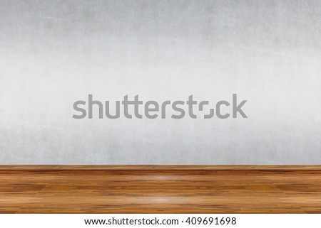 Concrete wall in an empty room as background - stock photo
