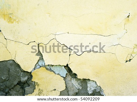 concrete wall of the cement - stock photo