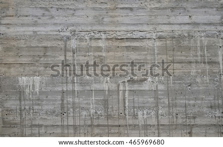 Concrete Wall Wooden Pattern Impress Wooden Stock Photo 285996665 ...