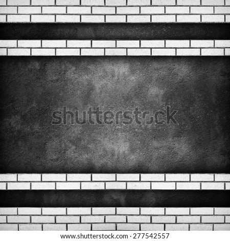 concrete wall with brick pattern