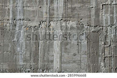 Concrete Wall Wooden Pattern Impress Wooden Stock Photo 285996692 ...