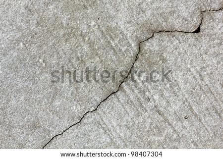 concrete with crack - stock photo