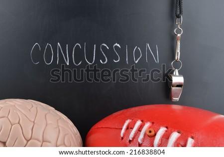 Concussion in Sport - stock photo
