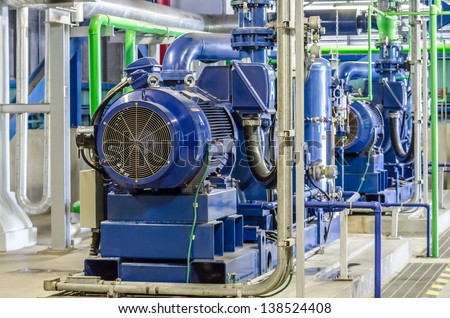 condensate pump of combined cycle power plant - stock photo