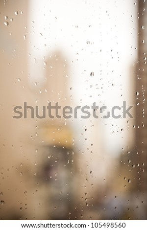 Condensation on the glass. - stock photo