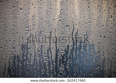 condensation water droplets in a window  - stock photo