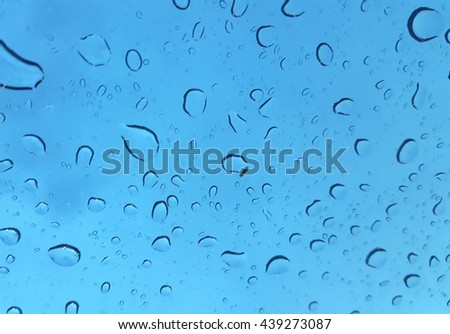 Condensation windshield after the rain. in thailand