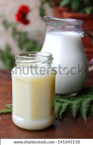 Condensed milk - stock photo