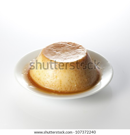 Condensed milk pudin - stock photo