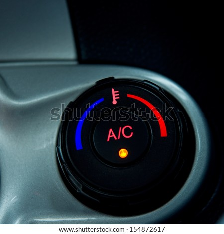 Conditioner and air flow control in a car