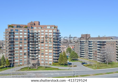 Condo buildings in Montreal - stock photo