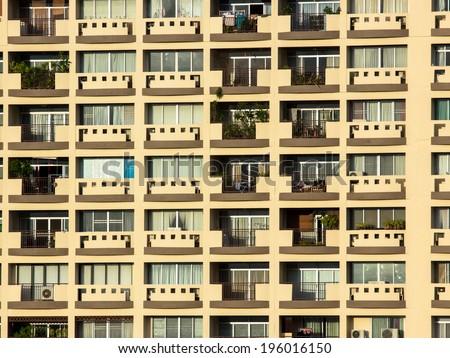 Condo Windows At day Background - stock photo