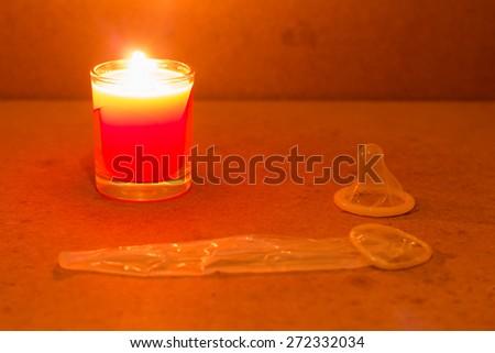 condom erotic concept - stock photo