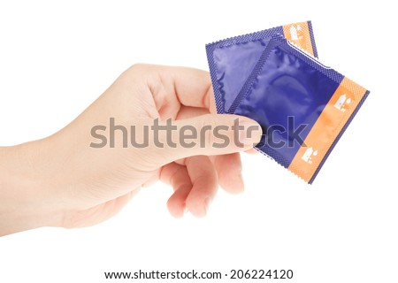 condom in hand