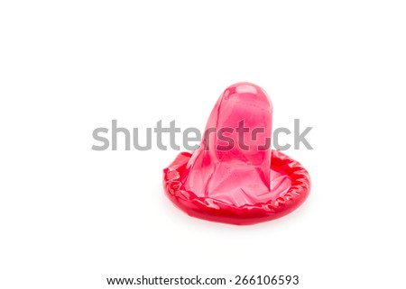 Condom isolated on white