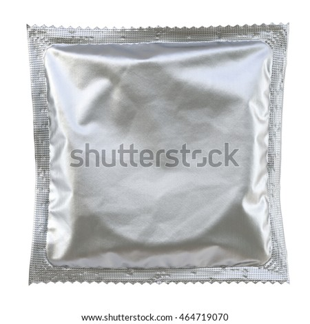 Condom isolated on white background. 3D illustration.