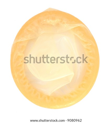 Condom, isolated, with clipping path - stock photo