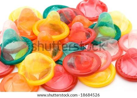 condom studio isolated - safe sex concept