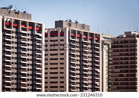 Condominium Buildings - stock photo
