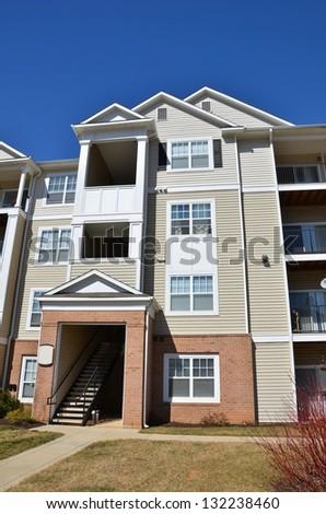 Condominium Garden Style Complex in Maryland, USA - stock photo