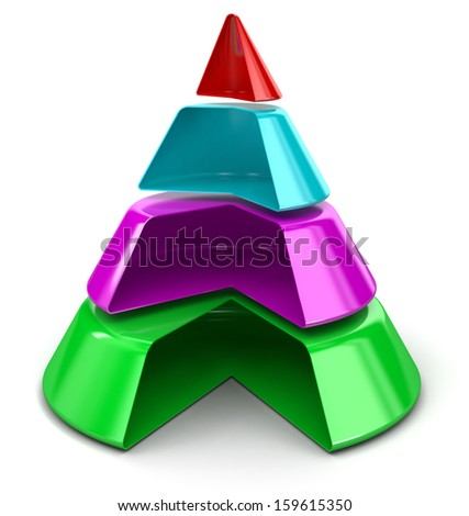Cone Chart - stock photo