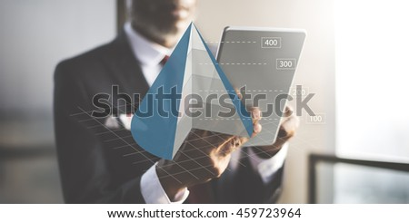 Cone Graph Chart Business Analytics Concept