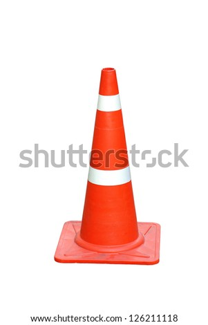 Cone Isolated on White - stock photo