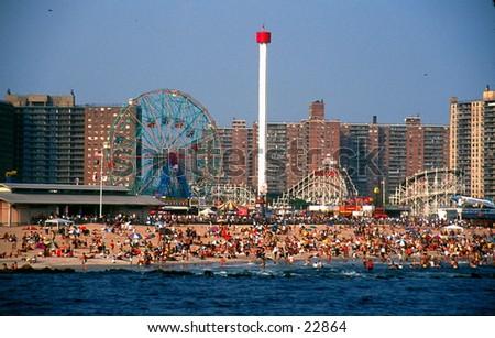 Coney Island. - stock photo