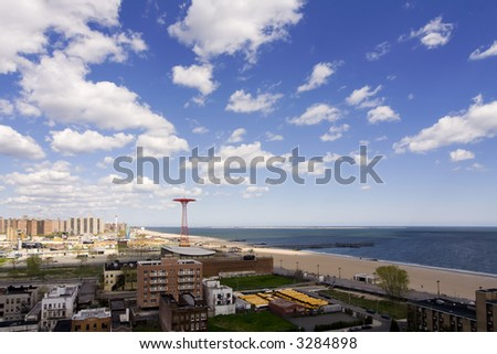 Coney Island Skyline - stock photo