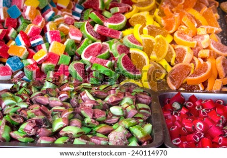 confectionery colorful candy - stock photo