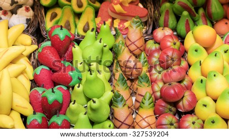 Confectionery Marzipan - stock photo