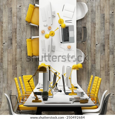 Conference room, abstract office  - stock photo