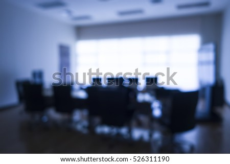 conference room blurred background