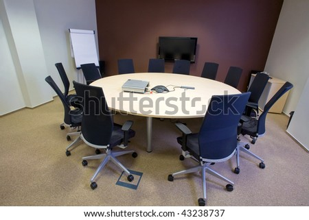 Conference room in modern office building