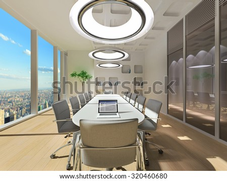 Conference room in office - stock photo