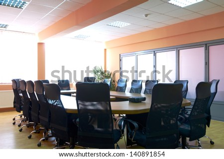 Conference room interior - stock photo
