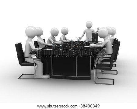 Conference room speech - stock photo
