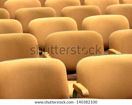 conference - rows of empty seats texture - stock photo