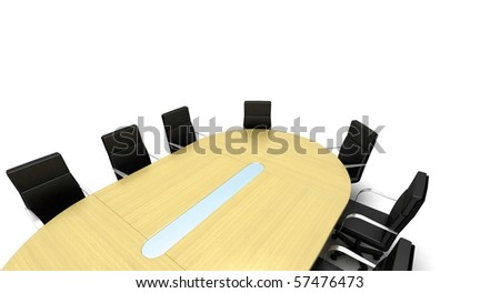 Conference Table - stock photo