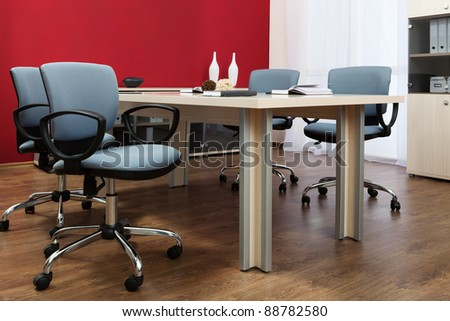 conference table in a modern office - stock photo
